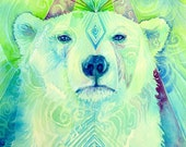 Polar Bear Spirit Animal Art Print