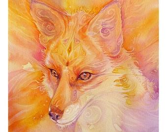 Fox Spirit Animal Art Print / A3