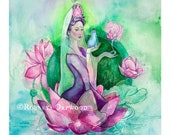 Quan Yin Goddess Art Print / A3