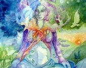 Pachamama Earth Mother Gaia Art Large Print