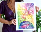 Tarot The World Limited Edition Art Print / featured in 'Crystal Power Tarot' by Jayne Wallace, Psychic Sisters