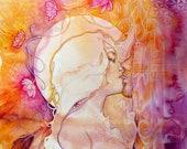 Twin Flame Lovers Art Print / A4 / Sacred Union