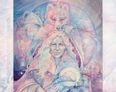 Bear Shaman Shamanic Medicine Art Print - A3