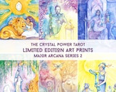 Major Arcana / Limited Edition Art Print series 2 / featured in 'Crystal Power Tarot' by Jayne Wallace, Psychic Sisters