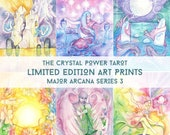 Major Arcana / Limited Edition Art Print series 3 / featured in 'Crystal Power Tarot' by Jayne Wallace, Psychic Sisters