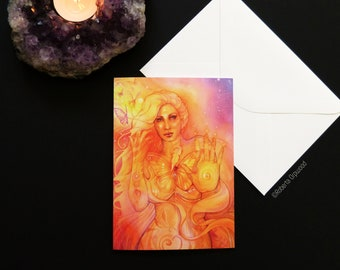 Butterfly Goddess Greeting Card