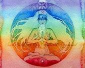 Yoga Chakra Goddess Art Print