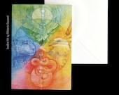 Shamanic Medicine Wheel Greeting Card
