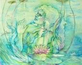 Water Nymph Naiad Goddess Art Print