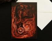 Dragon Goddess Greeting Card