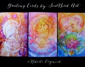 Greeting Card set of 3 Soul Lovers Sacred Union