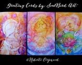 Divine Love Luxury Greeting Card set of 3