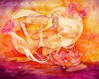 Twin Flame / Soul Mate Fine Art Print / A3