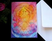 Soul Sister Goddess Greeting Card