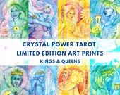 Tarot Art Kings & Queens / Limited Edition Art Print / featured in 'Crystal Power Tarot' by Jayne Wallace, Psychic Sisters