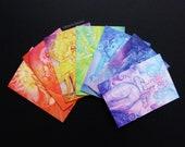 Rainbow Chakra Goddess Greeting Card Set of 7