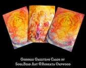 Soul Sister Goddess Greeting Card Set of 3