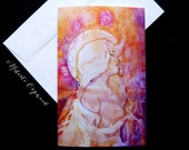 Sacred Union Goddess Greeting Card