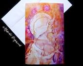 Sacred Union Goddess Greeting Card
