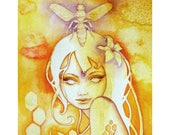 Queen Bee Goddess Art Print