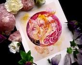 Wolf Goddess Art Print