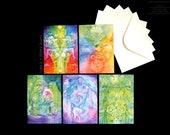 Shamanic Medicine Greeting Card Set of 5