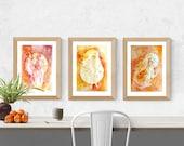 Fire Element Zodiac Goddess Art Print Set