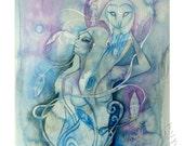 Spirit Animal Owl Goddess - Art print - Spirit Animal Art