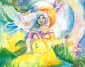 Tarot The Empress Limited Edition A3 Art Print / featured in 'Crystal Power Tarot' by Jayne Wallace, Psychic Sisters