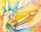 Egyptian Goddess Art Print ~  Ma'at Goddess of Justice