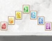 Chakra Goddess Art Print Set / Chakra Healing / Spiritual Gift / 7 Large Fine Art Prints