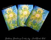 Earth Mother Goddess Greeting Card Set of 3