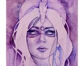 Goddess of Intuition A3 Art Print