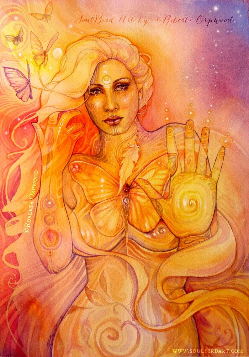 Butterfly Goddess Light Seeker Art Print image 0