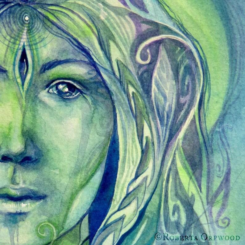 Shamanic Plant Spirit Art Print /  Medicine woman Art / image 0