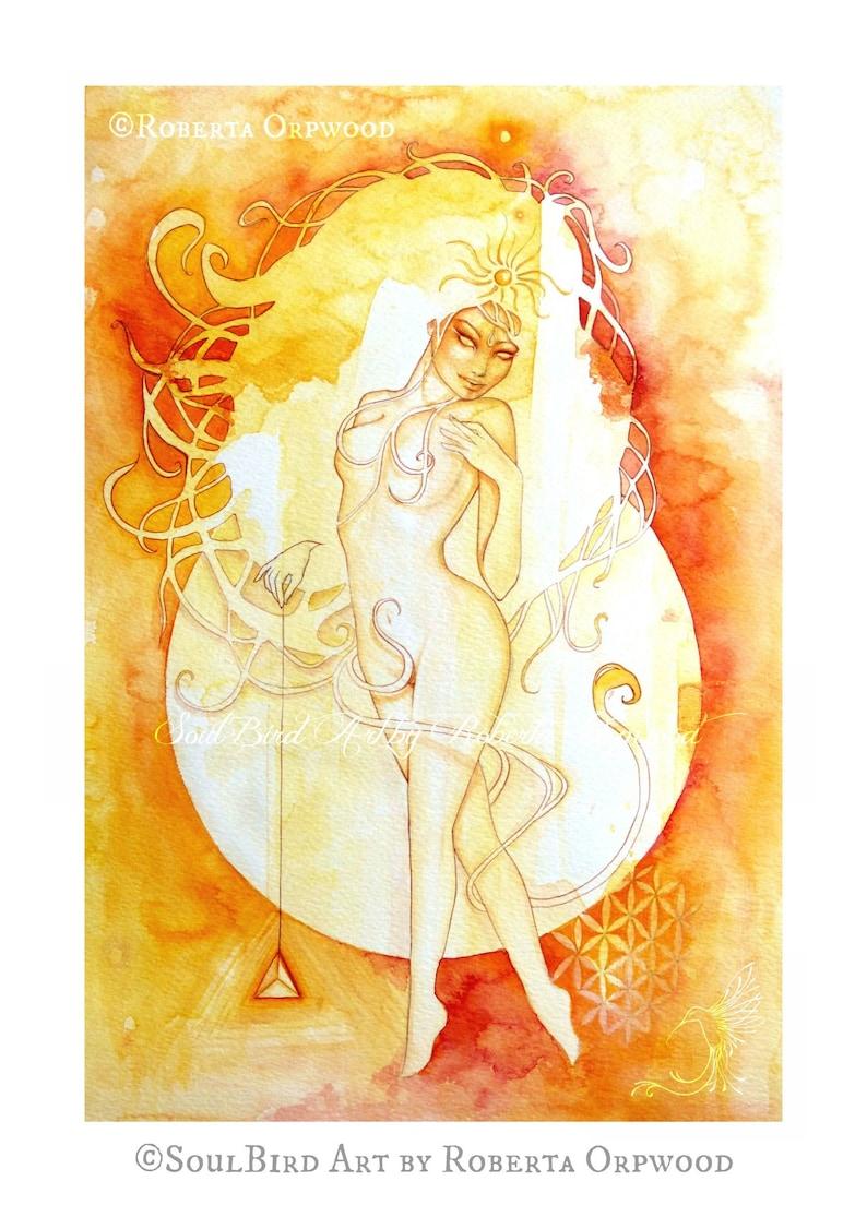Leo Zodiac Goddess Art Print / A4 image 1