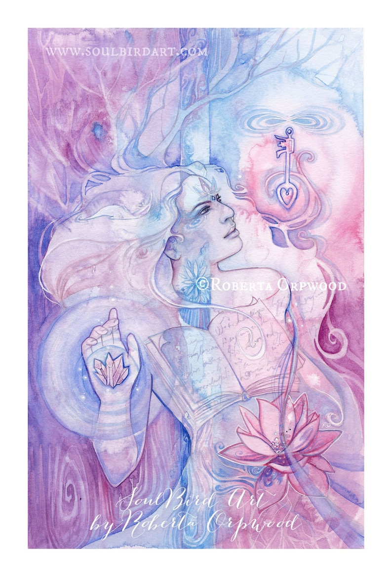 Tarot The Hierophant Limited Edition A3 Art Print / featured image 0