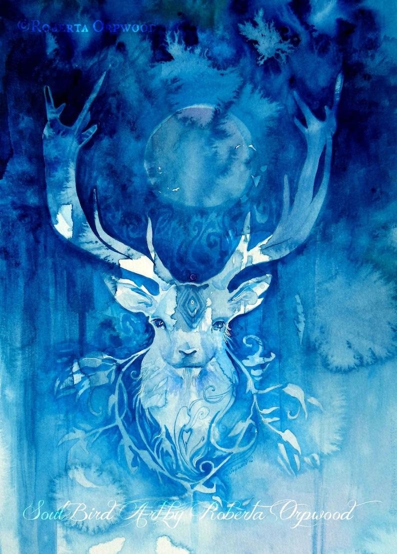 Stag Spirit Animal Art Print / A3 image 1