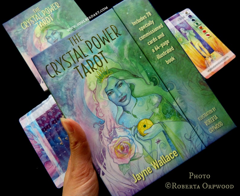 Crystal Tarot Deck Illustrated by Roberta Orpwood image 0