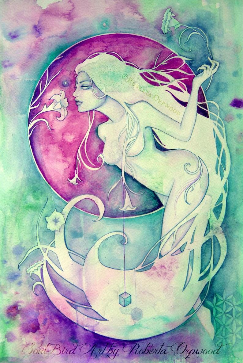 Virgo Zodiac Goddess Art Print image 1