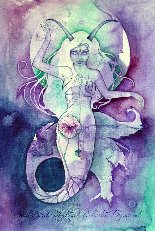 Capricorn Zodiac Goddess Art Print image 0