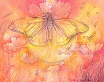 Butterfly Spirit Animal Art Print / A4