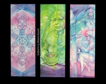 Shamanic Earth Medicine Bookmark set