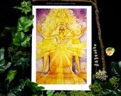 Shamanic Chakra Goddess Art / Sacred Solar Plexus Chakra