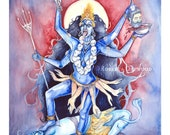 Kali Hindu Goddess of Transformation Art Print / A3
