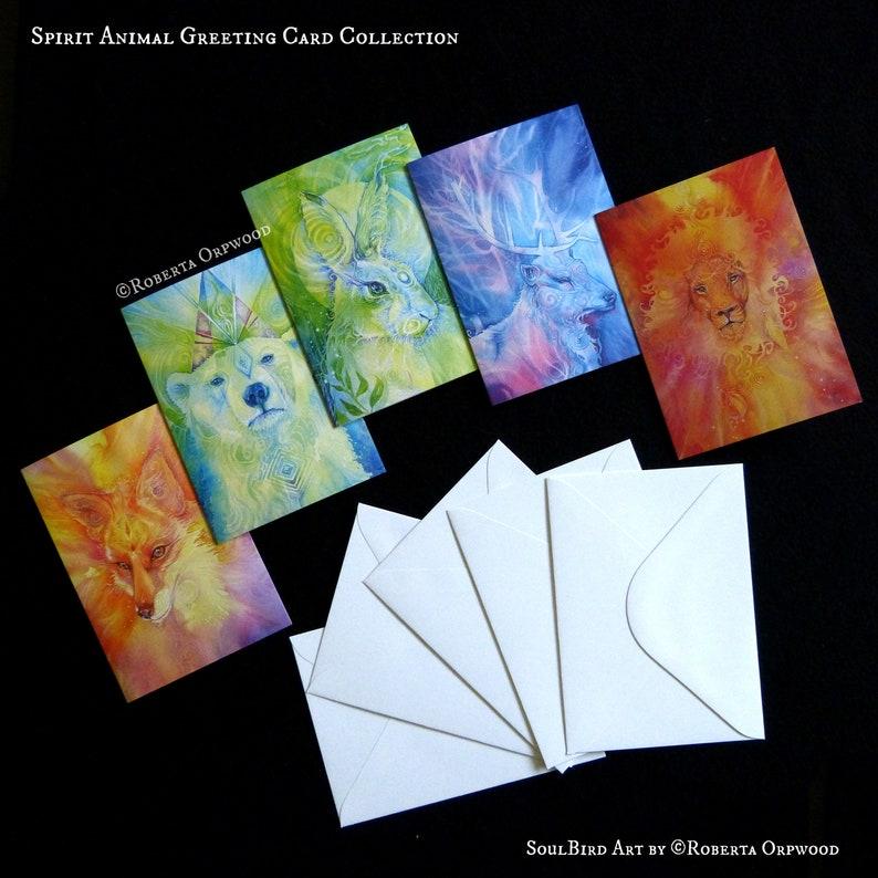 Spirit Animal Greeting Card Set of 5 image 0