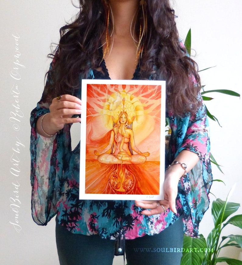 Shamanic Chakra Goddess Art / Sacred Red Root Chakra image 1
