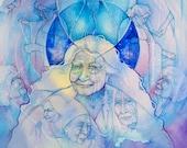 Ancestral Healing Wisdom Shamanic A3 Art Print