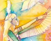 Ma'at Egyptian Goddess Art Print ~ Goddess of Justice