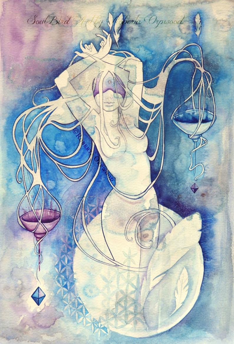 Libra Zodiac Goddess Art Print / A4 image 0